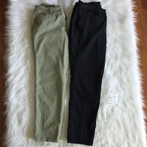 Lot Of 2 Size 4 Old Navy boyfriend cropped pants